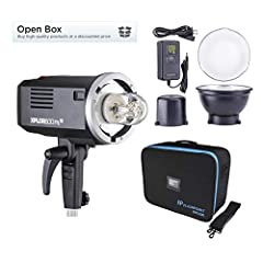 "Flashpoint XPLOR600 TTL 600ws Monolight ""OPEN BOX"" - 600ws Flashtube (NEW) with Protective Cover - Standard 7"" Reflector - Rechargeable Lithium Battery (NEW) - AC Battery Charger Set - Compartment Case - Flashpoint 2-Year Full USA Warranty 600Ws stud..."