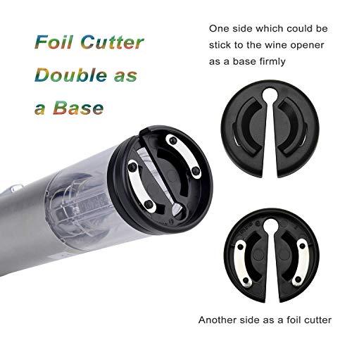 Ecooe Automatico Cavatappi Elettrico Apribottiglie Acciaio Inox con Luce a LED Caricabatterie Argento