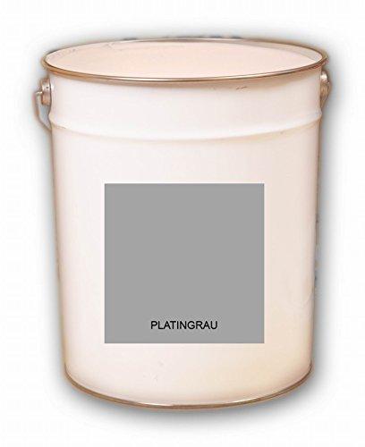 30 Liter grau Platingrau Acryl Dachfarbe Dachanstrich Ziegelfarbe Dachbeschichtung Metalldach Blechdach Acrylat Basis