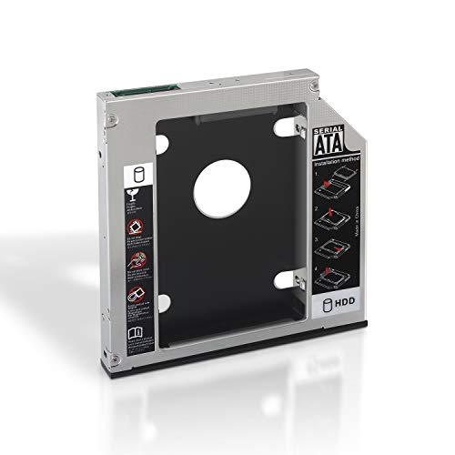 AISENS A129-0152 - Adaptador Disco Duro DE 9.5 mm (para Unidad óptica Portátil DE 12.7 mm) Color Plata