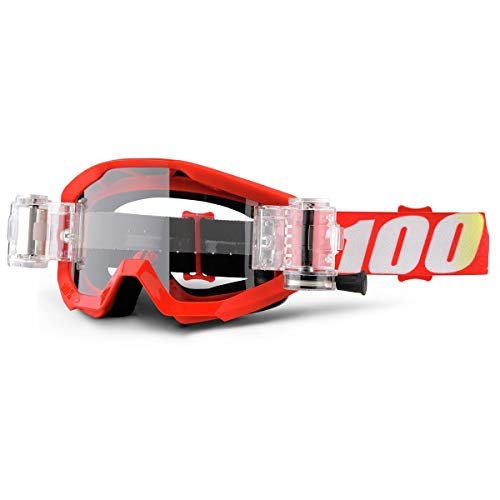 100% 50420-232-02 STRATA Mud Brille Furnace Rot - klar Linse