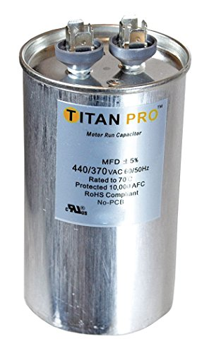Titan TRCFD705 Dual Rated Motor Run Capacitor Round MFD 70/5 Volts 440/370