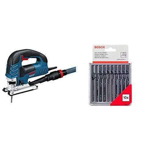 Bosch Professional GST 150 BCE - Sierra de calar, profundidad corte 150 mm, en maletín, 780 W + Bosch 2607010146 - Cuchilla de sierra caladora (pack de 10)