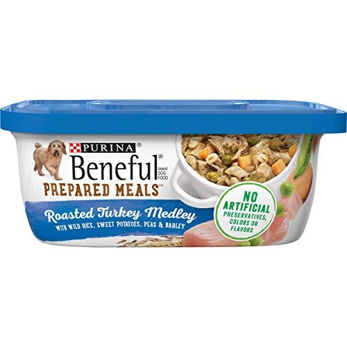 Purina Beneful Gravy Wet Dog Food, Prepared Meals Roasted Turkey Medley - (8) 10 oz. Tubs