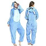 YQ&TL Pijamas cómodos Unisex para Hombres y Mujeres, Mono de Animal Suave para niños, Disfraz de Disfraces, Carnaval de Halloween F M