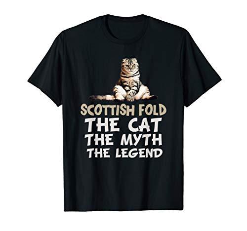 Scottish Fold Cat Funny Meme Cute Kitten Gifts T-Shirt