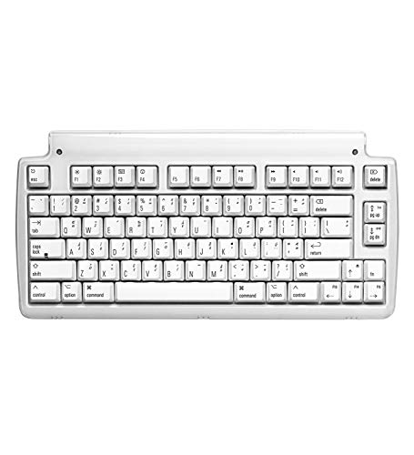 Matias Mini Tactile Pro USB Wired Tenkeyless Keyboard with Built-in 3-Port Hi-Speed USB 2.0 Hub - Compatible with Mac