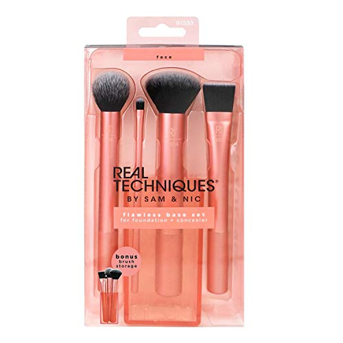 Real Techniques 1533 Flawless - Basis Pinsel-Set, 1er Pack (1 x 4 Stück)