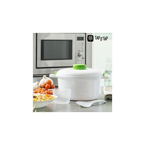 Appetitissime It Tap Schnellkochtopf für Mikrowelle, Weiß, 20 cm