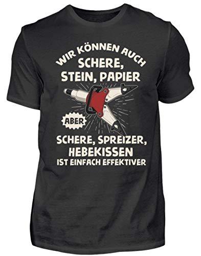 Feuerwehr - Schere Spreizer Hebekissen - Geschenk für Feuerwehrleute - Herren Shirt -XL-Schwarz