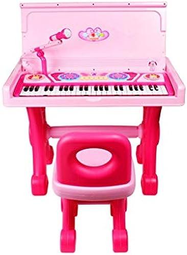 LINGLING-Tastatur Kinder Klavier Schreibtisch Multifunktions Elektronische Klavier Anf er Baby Spielzeug Elektronische Klavier mädchen 1-3-6 Jahre Alt (Farbe   Rosa)