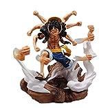 Alto alrededor de 31 cm One Piece GK Machine Luffy Pop Phantom Luffy Boxed Sculpture Gift Modelo Art...