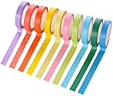 10PCS Colored Crafting Tape, 10 Different Color Rolls for 0.3Inch Washi Tape, Labeling or Coding - Art Supplies for Kids - - Masking Tape,for Arts & Crafts