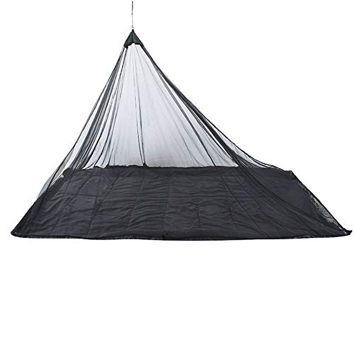 Mosquitera para acampar, cubierta de red protectora anti-alta densidad, bolsa de transporte y 4 clavos de tierra, utilizada para acampar al aire libre, mosquiteras de montaña y de campo (negro)