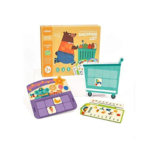 Children's Shopping List Game, Tweetalige Aantekeningen in het Chinees en het Engels Simulated Shopping eenvoudige rekenkundige oefening geheugen uit te breiden Woordenschat Things Recognition