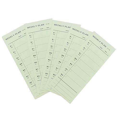 perfeclan Calendario Semanal de Planificación de Comidas, Lista de Compras, Almohadilla Adhesiva para Refrigerador, Organizador de Tablero de Menú de Comida de - Plan semanal