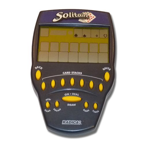 Radica Large Screen Solitaire Handheld Lcd Game 8025