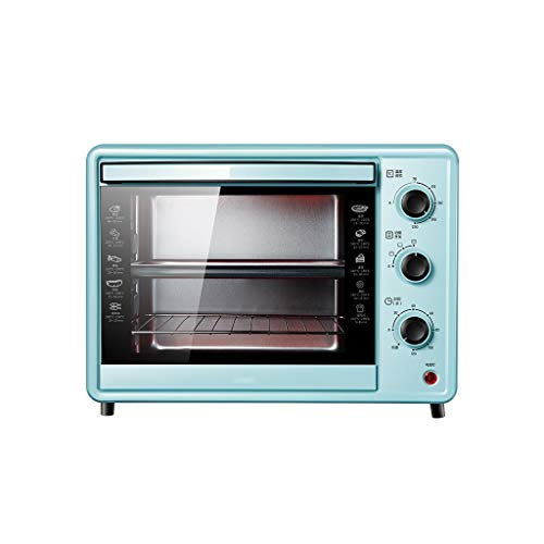 GCX Four électrique Four Petit Ménage automatique de cuisson multi-fonction à grande capacité de bureau gâteau du four mode (Color : Green)