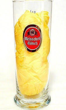 Reissdorf Kolsch Beer Glass Heinrich Reissdorf Koln Germany 0.4l by Reissdorf