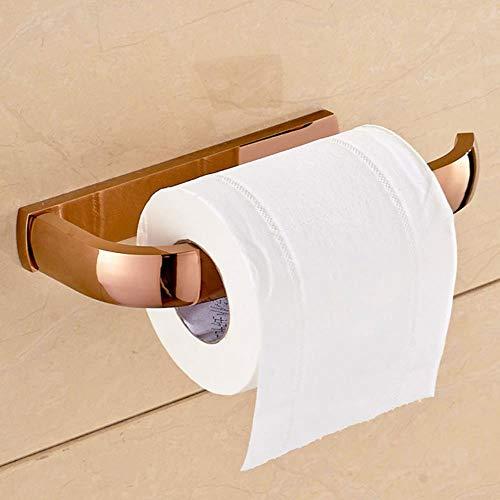 Rollenhalter Toilettenpapierhalterantiker Toilettenpapierhalter Aus Massivem Messing Mit Quadratischem Grundriss Tissue Box Wandmontage Toilettenpapierhalter Set Mit Gebürstetem Badzubehör, Rotgold,