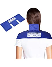 LotFancy Neck Ice Pack - Hot Cold Therapy Wrap for Shoulder, Cervical, Back - Cool Gel Pack for Arthritis, Tendonitis, Sports Injuries, Migraines, Headache Pain, Microwavable Heating Pad, Reusable