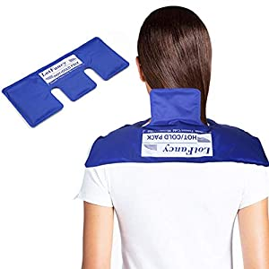TARGETED HOT / COLD THERAPY: Contoured neck wrap provides targeted cold/ heat therapy for quick pain relief; Hot cold pack provides full coverage for your neck, upper back and shoulders, ideal for neck pain, shoulder pain, upper back pain, headaches ...