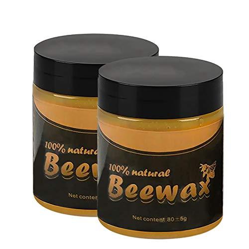 Beeswax Polish for Wood & Furniture   100% Natural Wood Seasoning Beewax...