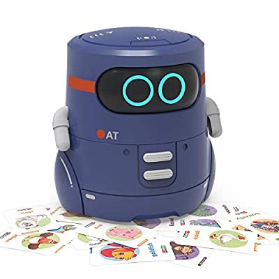 REMOKING STEM Educational Robot Toy,Dance,Sing, Guess Card Game, Speak Like You, Touch Sensing,Recorder,Interactive Kids Learning Partner,Smart Robot Gifts for Kids from REMOKING