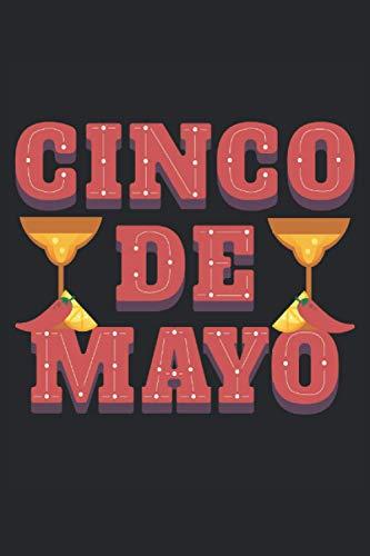 Cinco De Mayo Avocado Tequila Zitrone Chilli Mexiko: Notizbuch - Notizheft - Notizblock - Tagebuch - Planer - Kariert - Karierter Notizblock- 6 x 9 Zoll (15.24 x 22.86 cm) - 120 Seiten