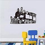Mode Steam Train Vinyl Art Wandtattoos Aufkleber Für Kinder Schlafzimmer Kleber Abnehmbare Wandaufkleber Home Decor 68 * 44.Cm.