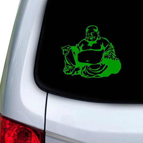 StickAny Car and Auto Decal Series Buddha Fat Sticker for Windows, Doors, Hoods (Green)