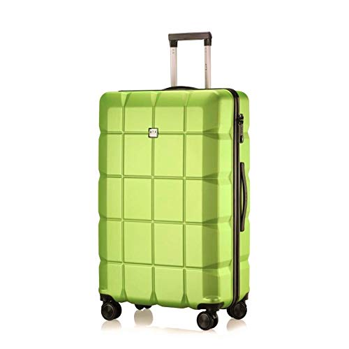ATX Luggage 28' Large Super Lightweight Durable PC+ABS Hardshell Hold Luggage Suitcases Travel Bags Trolley Case Hold Check in Luggage with 8 Wheels Builtin TSA Lock (28' Large, Lime Green)
