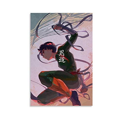 YZNA Naturo Rock Lee Anime Poster Decorative Painting Canvas Wall Art Living Room Posters Bedroom Painting 08x12inch(20x30cm)