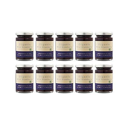 オーガニックブルーベリー濃縮ペースト - オーガニックワイルドブルーベリー(145g×10個) 砂糖・添加物一切不使用 有機栽培の野生種ブルーベリー100%(有機JAS認定)