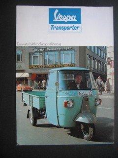 Vespa Transporter. Das wirtschaftliche Transportfahrzeug.