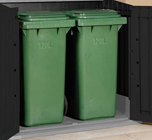 Mülltonnenbox von Keter Store it Out Midi, Schwarz, 845L - 7