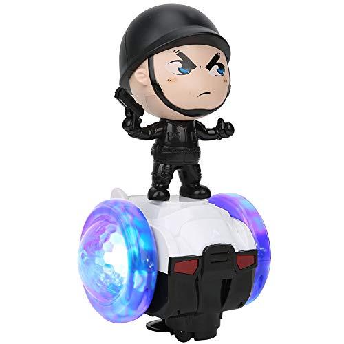 Asixxsix Juguete Robot para Caminar, Juguete Divertido para automóvil de Seguridad con música, plástico de Superficie finamente Pulido para Regalo de niños(Policemen, Balance Car)