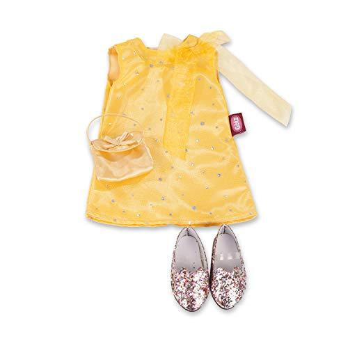 Götz 3402194 Kombination Golden Girl - Puppenbekleidung Gr. XL - 4-teiliges Bekleidungs- und Zubehörset für Stehpuppen mit Einer Größe von 45 - 50 cm