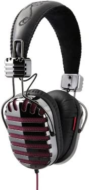 I-MEGO Headphones, Throne Poison, Leather Headband and Soft Pouch, Purple