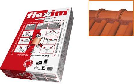FLEXIM Dachmörtel | VE = 10 Streifen (ca.9kg) für 3-5 Meter | Farbe: rot