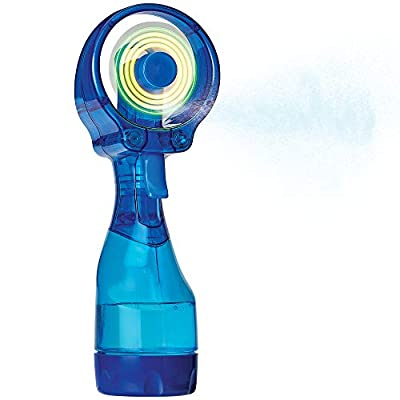 O2COOL Deluxe Misting Fan, LED Dark Blue