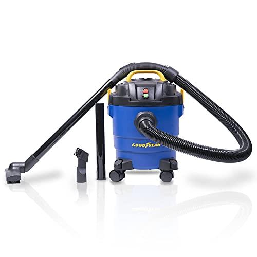 Goodyear Aspirador Potente para seco y húmedo. para Coche y hogar. Sistema de filtrado HEPA y función soplado. Cepillo para Suelo Incluido (10 litros)