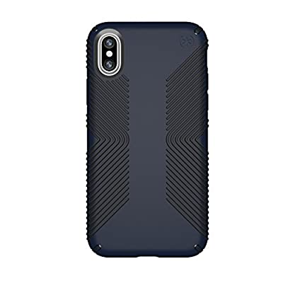 Speck iPhone X / XS Presidio Grip Case, 10-Foot Drop Protected iPhone Case with Scratch-Resistant Finish and Protective No-Slip Grip, Eclipse Blue/Carbon Black
