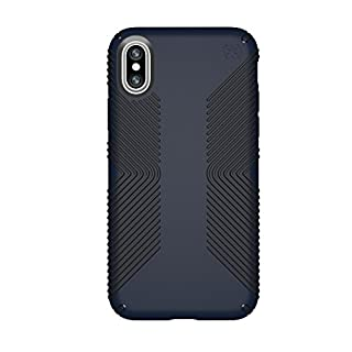 Speck iPhone X / XS Presidio Grip Case, 10-Foot Drop Protected iPhone Case with Scratch-Resistant Finish and Protective No-Slip Grip, Eclipse Blue/Carbon Black (B074GJD2QJ) | Amazon price tracker / tracking, Amazon price history charts, Amazon price watches, Amazon price drop alerts