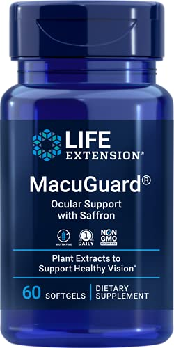 Life Extension MacuGuard Ocular Support with Saffron 60 softgels,...
