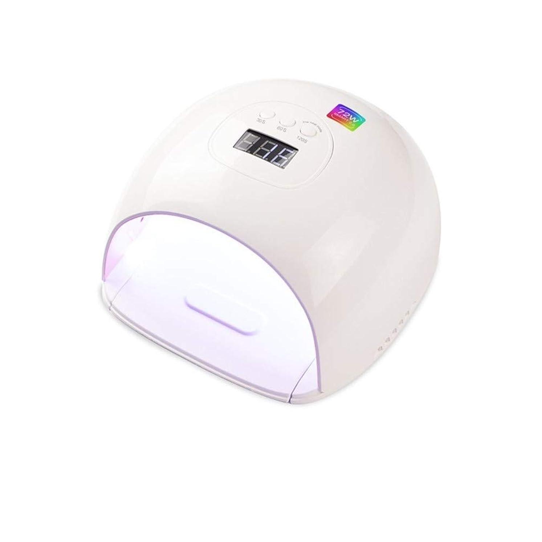 ハチ娘誤ってGuomao UV / LEDランプスマートセンサネイルUVランプ電力72Wプラスチックポーランドドライヤー (色 : American standard flat plug)