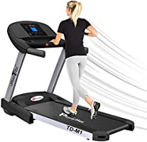 PowerMax Fitness TD-M1 (4HP Peak) 100% Pre-installed Motorized Plug And Run Treadmill with 3-year motor warranty, With...