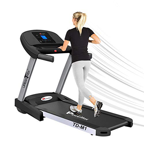 PowerMax Fitness TD-M1 2HP (4HP Peak) Pre-installed Motorized Treadmill, Home Use & Semi Automatic Lubrication