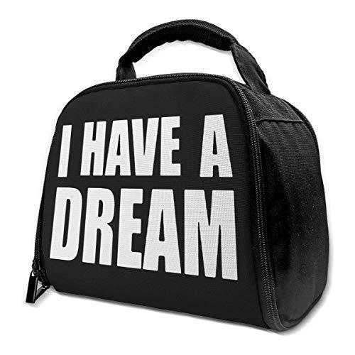 li Tengo un sueño Bolsa aislada Bolsa de almuerzo Caja de almuerzo aislada Bolsa de mano Bolsa de refrigerador para trabajo de picnic
