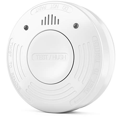 deleyCON 1x Rauchmelder VDs Zertifiziert + DIN EN 14604 10 Jahres Batterie Fotozellen Sensor Rauchwarnmelder Feuermelder Brandmelder Wohnung Haus